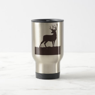 Chocolate brown stag mug