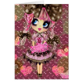 Chocolate Bubbles Kawaii Sweet Lolita PinkyP Card