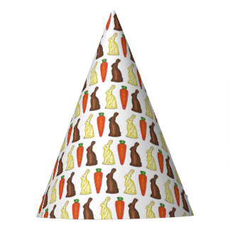 Chocolate Bunny Rabbit Carrot Easter Basket Candy Party Hat