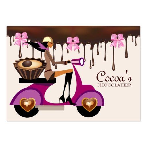 Chocolate Business Card Scooter Chocolatier