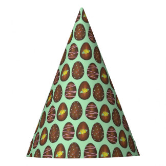 Chocolate Buttercream Easter Egg Candy Icing Green Party Hat