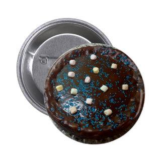 Chocolate cake 2 inch round button
