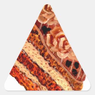 Chocolate Cake 4 Triangle Sticker