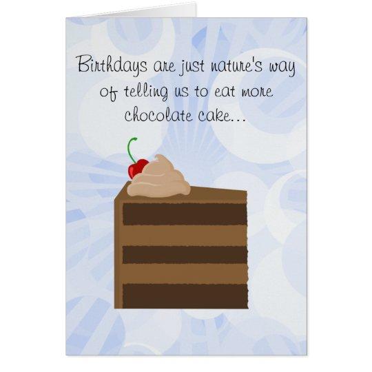 Chocolate Cake Birthday Card