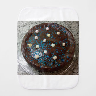 Chocolate cake burp cloth
