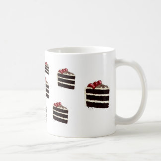 CHOCOLATE CAKE CLASSIC WHITE COFFEE MUG