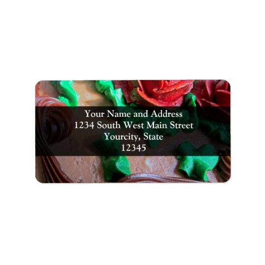 Chocolate Cake Decorating Label