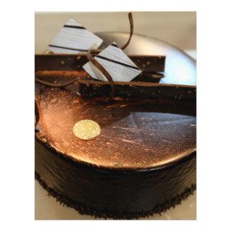 Chocolate cake flyer design