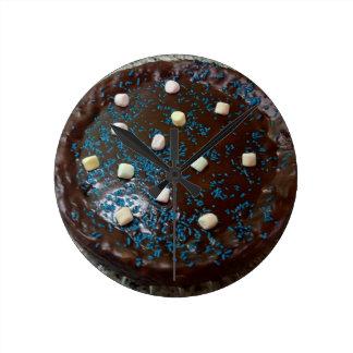 Chocolate cake round clock