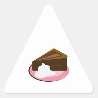 Chocolate Cake Slice Triangle Sticker