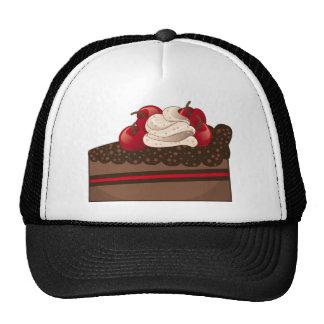 Chocolate cake slice trucker hat