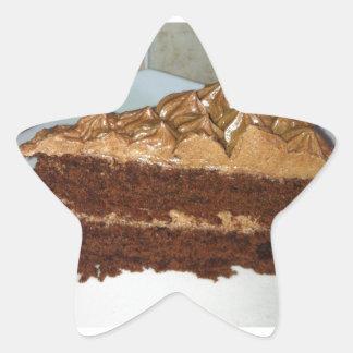 Chocolate Cake Star Sticker