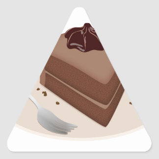 Chocolate Cake Triangle Sticker