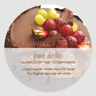 Chocolate Cake stickers/bakers/pastry chef Round Sticker
