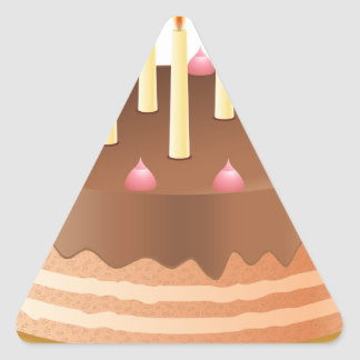 Chocolate cake with candles 2 triangle sticker