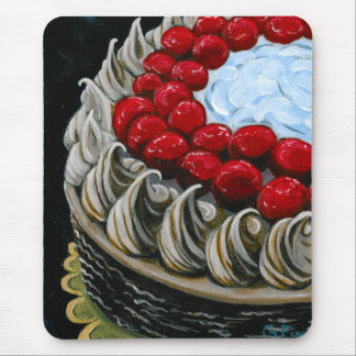 Chocolate Cake with Cherries Mouse Pad