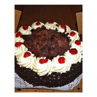 Chocolate cake with cream flyer