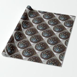 Chocolate cake wrapping paper