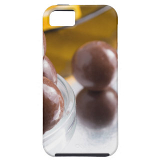Chocolate candies in a small glass bowl close-up iPhone 5 cases