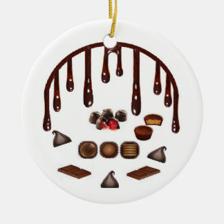 Chocolate Candy Ceramic Ornament