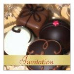 Chocolate Candy Christmas Holiday Invitation