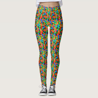 Chocolate candy M&Ms sweets Photo Leggings