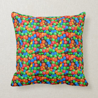 Chocolate candy M&Ms sweets Throw Pillow