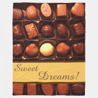 Chocolate Candy (Sweet Dreams) Fleece Blanket