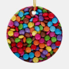 Chocolate Candy Sweets Ceramic Ornament