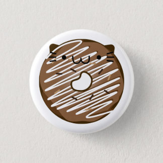 Chocolate Cat Donut Button