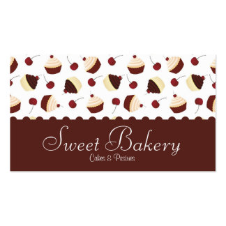 Chocolate Cherry Cupcake Bakery Pack Of Standard Business Cards