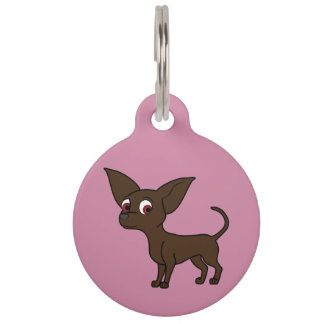 Chocolate Chihuahua with Short Hair Pet ID Tags