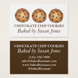 Chocolate Chip Cookie Cookies Baked By Bakery Food Business Card