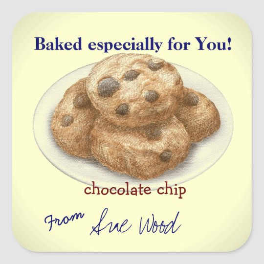 Chocolate Chip Cookie Gift Stickers
