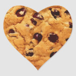 Chocolate Chip Cookie Heart Sticker
