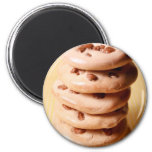 Chocolate Chip Cookie Pile Fridge Magnet