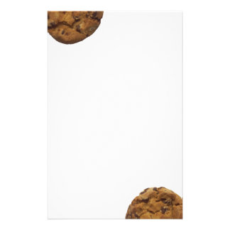 Chocolate chip cookie stationery