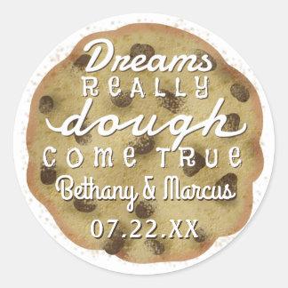 Chocolate Chip Cookie Wedding Favors Dreams Dough Round Sticker