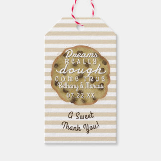 Chocolate Chip Cookie Wedding Treats Dreams Dough Pack Of Gift Tags