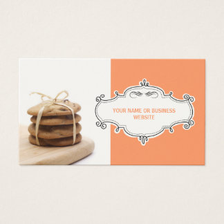 Chocolate Chip Cookies Business Cards {Orange}