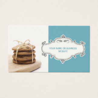 Chocolate Chip Cookies Business Cards {Teal}