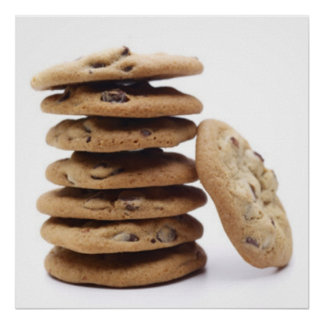 Chocolate Chip Cookies Poster Print