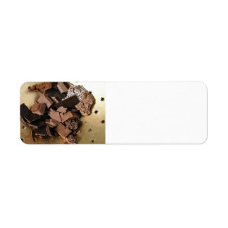 Chocolate chunks return address label