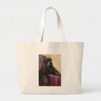 """Chocolate Cocker Spaniel"" Dog Art Tote Bag"