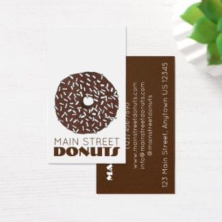 Chocolate Coconut Donut Doughnut Shop Donuts Food Business Card