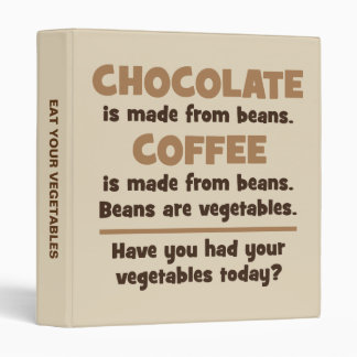Chocolate, Coffee, Beans, Vegetables - Novelty Binder