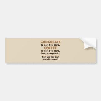 Chocolate, Coffee, Beans, Vegetables - Novelty Bumper Sticker