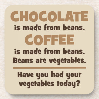Chocolate, Coffee, Beans, Vegetables - Novelty Coaster