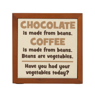 Chocolate, Coffee, Beans, Vegetables - Novelty Desk Organizer