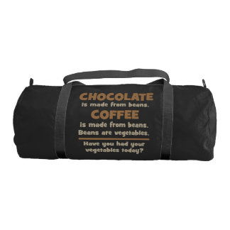 Chocolate, Coffee, Beans, Vegetables - Novelty Gym Bag